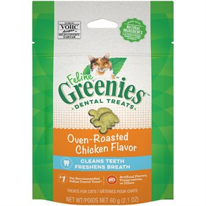 Greenies Feline Chicken Complete Dental Treat 2.1oz