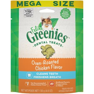 Greenies Feline Chicken Complete Dental Treat 4.6oz