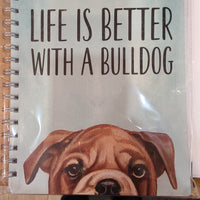 Spiral Notebook Bulldog