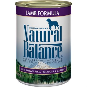 Natural Balance Dog Original Lamb Formula Cans 12 / 13oz