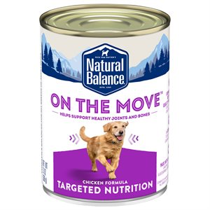 Natural Balance Targeted Nutrition Adult Dog On the Move Chicken Formula  13oz
