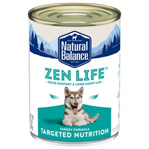 Natural Balance Targeted Nutrition Adult Dog Zen Life Turkey Formula 13oz