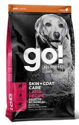 GO! SOLUTIONS Skin + Coat Care Lamb Recipe for Dogs