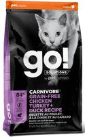 Petcurean Go! Solutions Carnivore Grain-Free Chicken, Turkey, Duck Recipe for Cats