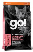 Petcurean Go! Solutions Carnivore Grain-Free Salmon & Cod Recipe for Cats 3lb
