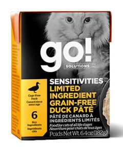 Go Sensitivities LID Grain Free Duck Cat 6.4OZ
