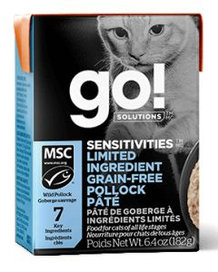 Go Sensitivities LID Grain Free Pollock Pate Cat 6.4OZ