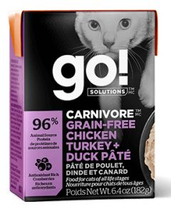 Go Carnivore Grain Free Chicken Turkey and Duck Pate Cat 6.4OZ