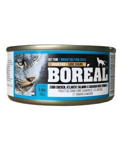 Boreal Cobb Chicken Atlantic Salmon and Canadian Duck Cat 156G