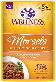 Wellness ® Healthy Indulgence ® Morsels Grain Free Chicken and Salmon Pouches