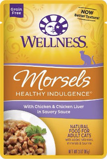 Wellness ® Healthy Indulgence ® Morsels Grain Free Chicken and Chicken Liver Pouches