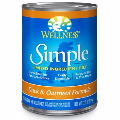 Wellness ® Simple Solutions™ Limited Ingredient Duck & Oatmeal Formula Wet Dog Food