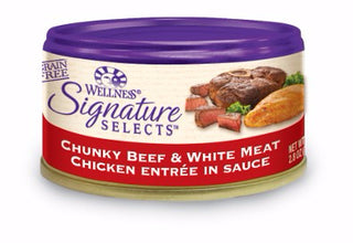Wellness ® Core Signature Selects™ Grain Free Chunky Beef and Chicken