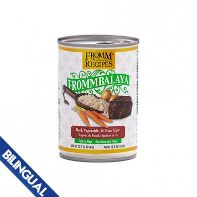 FROMM® FROMMBALAYA™ BEEF, VEGETABLE, & RICE STEW WET DOG FOOD 12.5oz