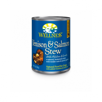 WELLNESS® HOMESTYLE STEW VENISON & SALMON STEW WITH POTATOES & CARROTS WET DOG FOOD 12.5 OZ