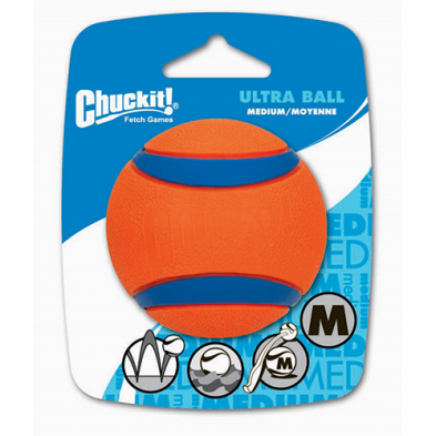 CHUCKIT!® ULTRA BALL MEDIUM (1 PACK) DOG TOY
