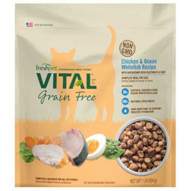 FRESH PET® VITAL® GRAIN FREE CHICKEN & OCEAN WHITEFISH RECIPE CAT FOOD 454 GM
