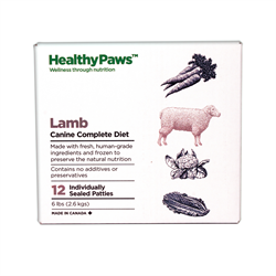 Healthy Paws Complete Dog Dinner Lamb 12 x 1/2 lb
