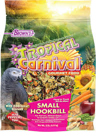 Tropical Carnival Small Hookbill, 5-Pound