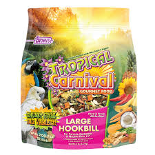 "Tropical Carnival Gourmet Large Hookbill Food for Parrots, Cockatoos and Macaws Over 13"", 5-lb Bag - Vitamin-Nutrient Fortified Daily Diet"