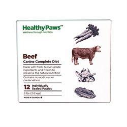 Healthy Paws Complete Dog Dinner Beef 12 x 1/2 lb