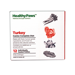 Healthy Paws Complete Dog Dinner Turkey 12 x 1/2 lb