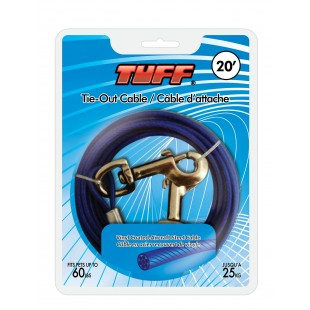 Tie-Out TUFF 20 Cable - SML/MED