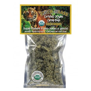 Tiger Grass Catnip Bud Bag 4g