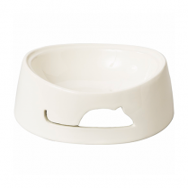 SPOT® BAILEY MOUSE CAT DISH WHITE
