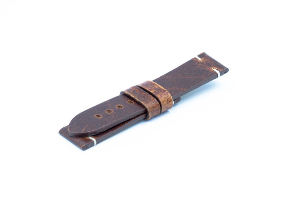 Coach leather strap - Ecru stitching - Lug 22 Buckle 20