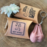 Birthday Gift For Him and For Her Hairy Testicle Keyring