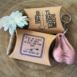 Hairy Testicle Keyring - Special Message Gift Parcel