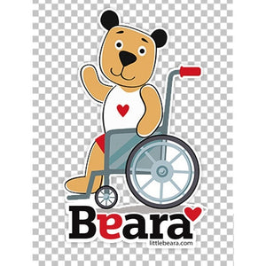 BEARA Boy in a Wheelchair - High-quality print image for download (transparent, on any background)