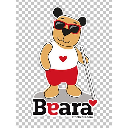 BEARA Boy, Partially Sighted - High-quality print image for download (transparent, on any background)
