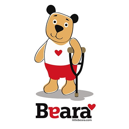 BEARA Boy with a Crutch - High-quality print image for download (on white background)
