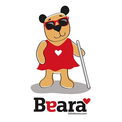BEARA Girl, Partially Sighted - High-quality print image for download (on white background)