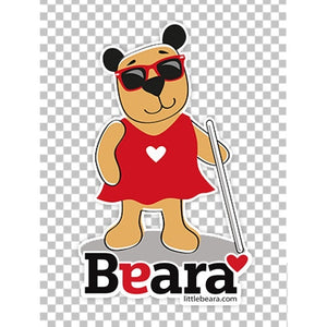 BEARA Girl, Partially Sighted - High-quality print image for download (transparent, on any background)