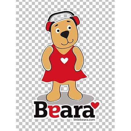 BEARA Girl with Autism - High-quality print image for download (transparent, on any background)