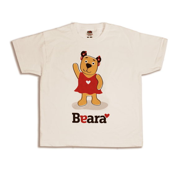 Beara Short Sleeve T-shirt for Girls with Hearing Aids