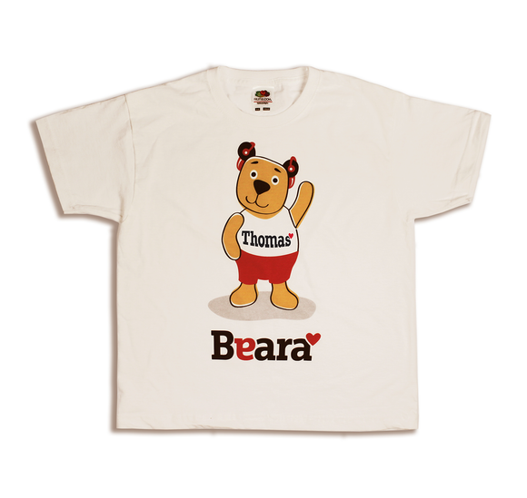 Beara Short Sleeve T-shirt for Boys with Hearing Aids - Personalised with Your Child's Name