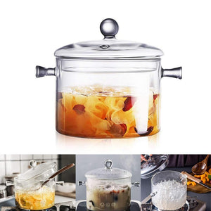 Transparent Glass Cooking Pot - My Kitchen Gadgets