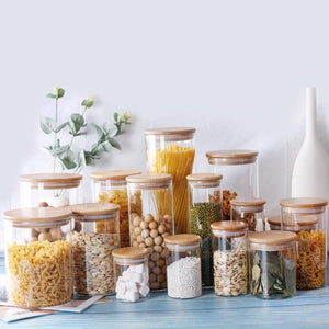 Glass Jars With Wooden Lid - My Kitchen Gadgets