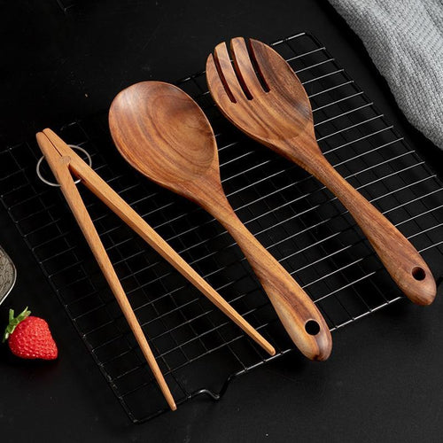 3 pcs Wooden Kitchen Utensils Set - My Kitchen Gadgets