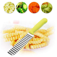 Green Potato Slicer Knife with fry chips