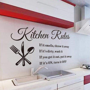 Wall Stickers Kitchen Rules Decal - My kitchen gadgets