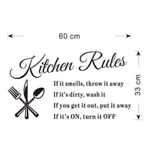Kitchen Rules Wall Sticker Decal - My kitchen gadgets