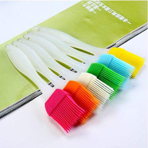 diverse colors of silicone psatry brush for applying oil