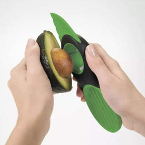 Avocado slicer takes out the core of the avocado