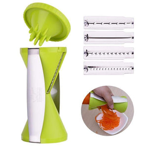 Green Vegetable Spiralizer With Four Blades