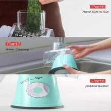 Easily Water Cleaning Of Round Mandoline Slicer